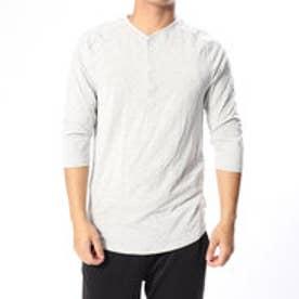 メンズ フィットネス 長袖コンプレッションインナー UA Recovery Sleepwear Elite 3/4 Henley 1318348