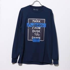 メンズ バスケットボール 長袖Tシャツ UA TECH PARK OPEN LS TEE 1358882 (ネイビー)