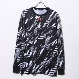 メンズ バスケットボール 長袖Tシャツ UA TECH FP LS TEE 1358883 (ブラック)