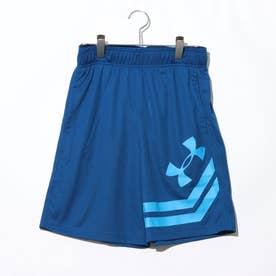 メンズ バスケットボール ハーフパンツ UA BASELINE 10IN COURT SHORT 1351285 (ブルー)