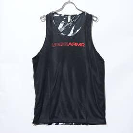メンズ バスケットボール ノースリーブシャツ UA BASELINE REVERSIBLE TANK 1356866 (ブラック)