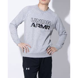 メンズ バスケットボール パーカー UA SWEAT CREW NECK J 1358598 (グレー)