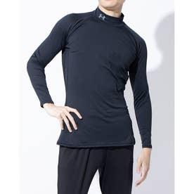 メンズ ゴルフ 長袖コンプレッションインナー UA CG Middle Weight Fitted Long Sleeve Mock 1327516 (ブラ