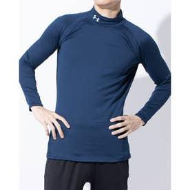 メンズ ゴルフ 長袖コンプレッションインナー UA CG Middle Weight Fitted Long Sleeve Mock 1327516 (ネイ
