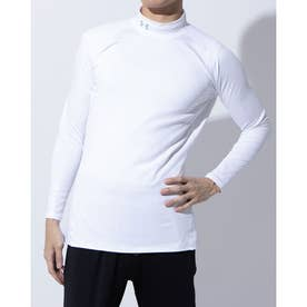 メンズ ゴルフ 長袖コンプレッションインナー UA CG Middle Weight Fitted Long Sleeve Mock 1327516 (ホワ
