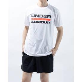 メンズ 半袖機能Tシャツ UA TECH WORD MARK SS 1359134 (ホワイト)