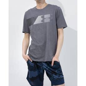 メンズ 半袖Tシャツ UA FAST LEFT CHEST 2.0 SS 1358572 (グレー)
