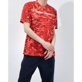 メンズ 半袖機能Tシャツ UA TECH ABC CAMO SS 1361698 (レッド)