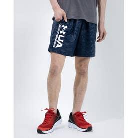 メンズ ウインドハーフパンツ UA Woven Emboss Shorts 1361432 (ネイビー)