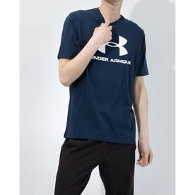 メンズ 半袖Tシャツ UA SPORTSTYLE LOGO SS 1358574 (ネイビー)