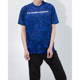 メンズ 半袖機能Tシャツ UA TECH ABC CAMO SS 1361698 (ブルー)