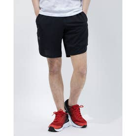メンズ ジャージハーフパンツ UA Train Stretch Shorts 1356858 (ブラック)