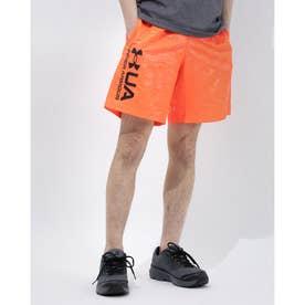 メンズ ウインドハーフパンツ UA Woven Emboss Shorts 1361432 (ピンク)