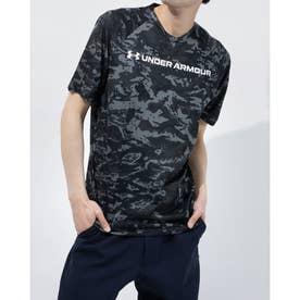 メンズ 半袖機能Tシャツ UA TECH ABC CAMO SS 1361698 (ブラック)