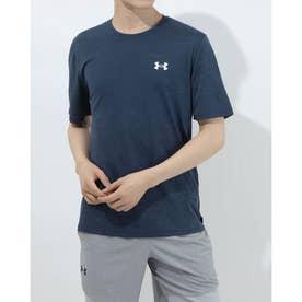 メンズ 半袖機能Tシャツ UA Training Vent Camo SS 1361503 (ネイビー)