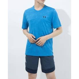 メンズ 半袖機能Tシャツ UA Training Vent Camo SS 1361503 (ブルー)