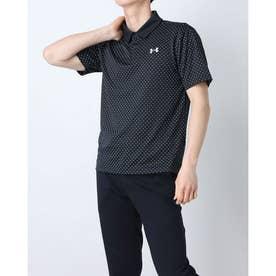 メンズ 半袖ポロシャツ UA Performance Printed Polo 1361857 (ブラック)