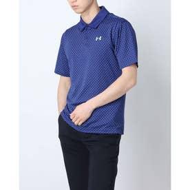メンズ 半袖ポロシャツ UA Performance Printed Polo 1361857 (ネイビー)