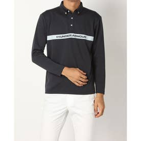 メンズ ゴルフ 長袖シャツ UA Core Long Sleeve Polo A Ex. 1368808 (ブラック)