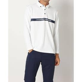 メンズ ゴルフ 長袖シャツ UA Core Long Sleeve Polo A Ex. 1368808 (ホワイト)