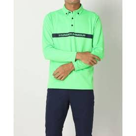 メンズ ゴルフ 長袖シャツ UA Core Long Sleeve Polo A Ex. 1368808 (グリーン)