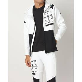 メンズ ニットジャケット UA HYBRID KNIT JACKET 1371115 (ホワイト)