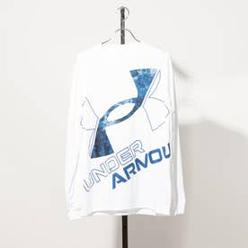 メンズ 長袖機能Tシャツ UA TECH BIG LOGO LS TEE 1369598 (ホワイト)