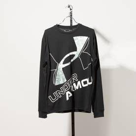 メンズ 長袖機能Tシャツ UA TECH BIG LOGO LS TEE 1369598 (ブラック)