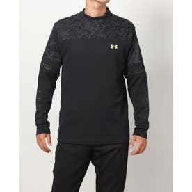 メンズ ゴルフ 長袖シャツ UA Waffle Long Sleeve Crew Shirt 1368807 (ブラック)