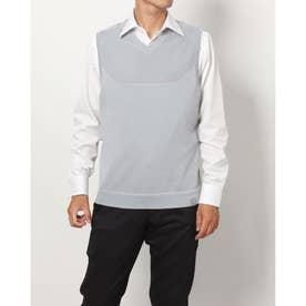 メンズ ゴルフ ベスト UA IntelliKnit Sweater Vest 1369334 (グレー)
