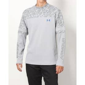 メンズ ゴルフ 長袖シャツ UA Waffle Long Sleeve Crew Shirt 1368807 (グレー)