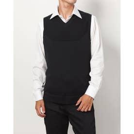 メンズ ゴルフ ベスト UA IntelliKnit Sweater Vest 1369334 (ブラック)