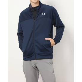 メンズ ゴルフ 長袖トレーナー UA Stretch Knit Full Zip Jacket 1369335 (ネイビー)