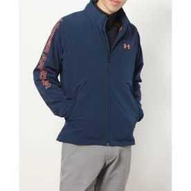 メンズ ゴルフ 長袖ウインドブレーカー UA Storm Full Zip Mesh Jacket 1369336 (ネイビー)