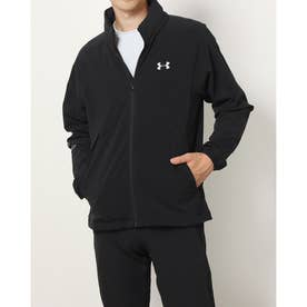 メンズ ゴルフ 長袖ウインドブレーカー UA Storm Full Zip Mesh Jacket 1369336 (ブラック)