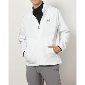 メンズ ゴルフ 長袖ウインドブレーカー UA Storm Full Zip Mesh Jacket 1369336 (ホワイト)