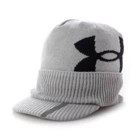 メンズ ゴルフ ニット帽子 UA Brimknit Beanie 1369339 (グレー)