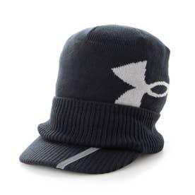 メンズ ゴルフ ニット帽子 UA Brimknit Beanie 1369339 (ブラック)