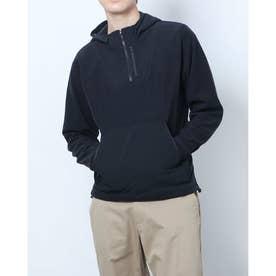 メンズ スウェットパーカー UA Rush Fleece FZ Hoodie 1366177 (ブラック)