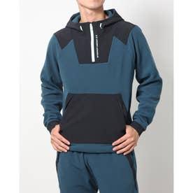 メンズ スウェットパーカー UA Rush Fleece FZ Hoodie 1366177 (ブルー)