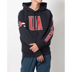 メンズ スウェットパーカー UA Rival Fleece ALPEN 50th BB 1371332 (ブラック)
