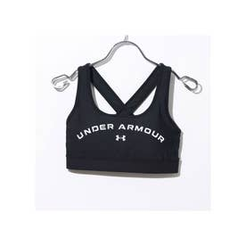 レディース フィットネス スポーツブラ UA Crossback Mid Graphic 1360117 【返品不可商品】 (ブラック)