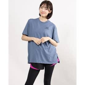 レディース 半袖Tシャツ UA Oversized Graphic SS 1363206 (ブルー)