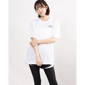 レディース 半袖Tシャツ UA Oversized Graphic SS 1363206 (ホワイト)