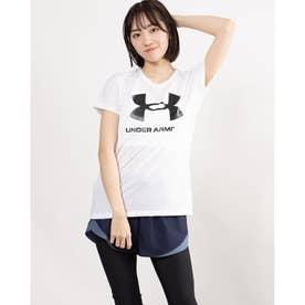 レディース 半袖Tシャツ UA Live Sportstyle Graphic SSC 1356305 (ホワイト)