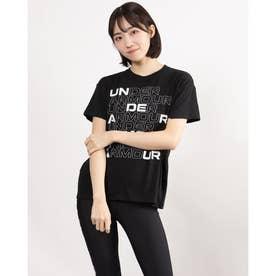 レディース 半袖Tシャツ UA Cotton Box Graphic Tee 1364218 (ブラック)