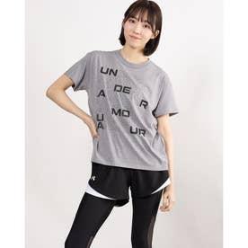 レディース 半袖Tシャツ UA Cotton Box Graphic Tee 1364218 (グレー)