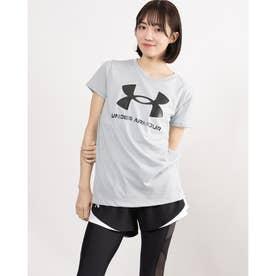 レディース 半袖Tシャツ UA Live Sportstyle Graphic SSC 1356305 (グレー)