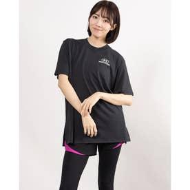 レディース 半袖Tシャツ UA Oversized Graphic SS 1363206 (ブラック)