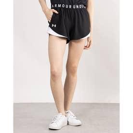レディース ジャージハーフパンツ UA Play Up Shorts 3.0 1344552 (ブラック)